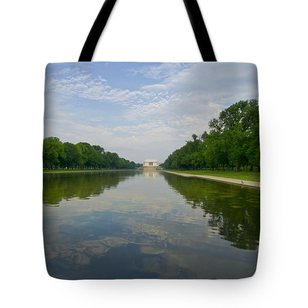 Tote Bag featuring the photograph The Lincoln Memorial And Reflecting Pool by Jim Moore