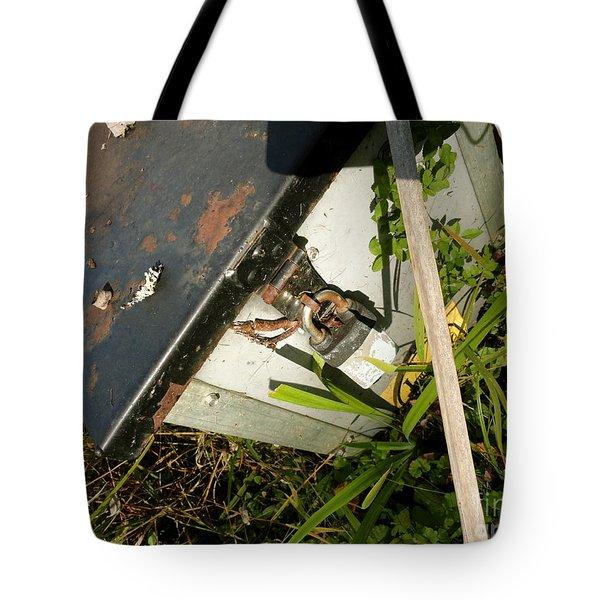 The Lock Box Tote Bag by Trish Hale
