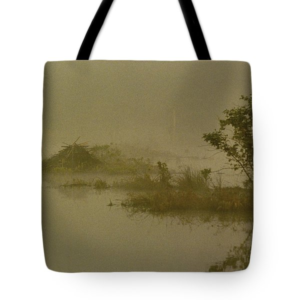 The Lodge In The Mist Tote Bag by Skip Willits
