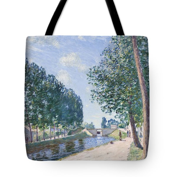 The Loing Canal At Moiret Tote Bag by Alfred Sisley