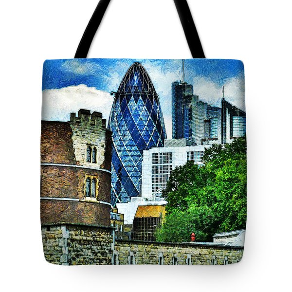 The London Gherkin  Tote Bag