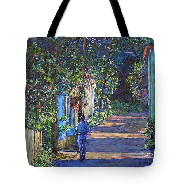 The Lonely Road Tote Bag by Li Newton