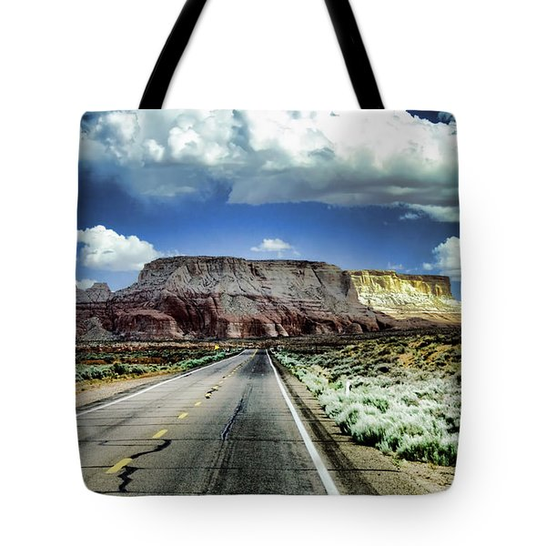 The Long And Lonely Road Tote Bag by Ellen Heaverlo