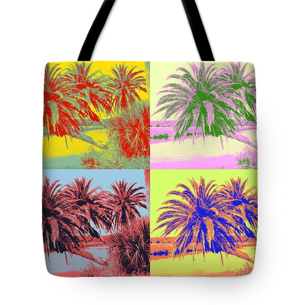 Tote Bag featuring the photograph The Loop In Pop Art by Alice Gipson