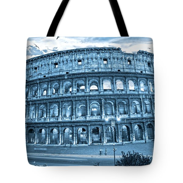 Tote Bag featuring the photograph The Majestic Coliseum by Luciano Mortula