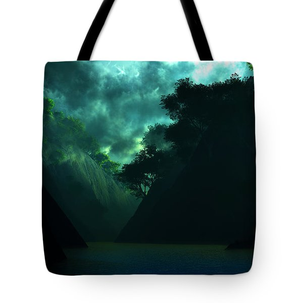 Tote Bag featuring the digital art The Majesty... by Tim Fillingim