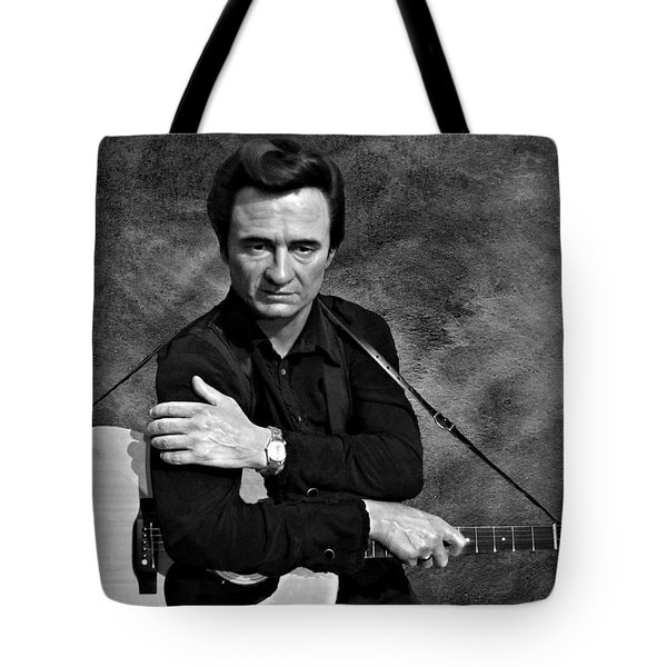 The Man In Black Bw Tote Bag