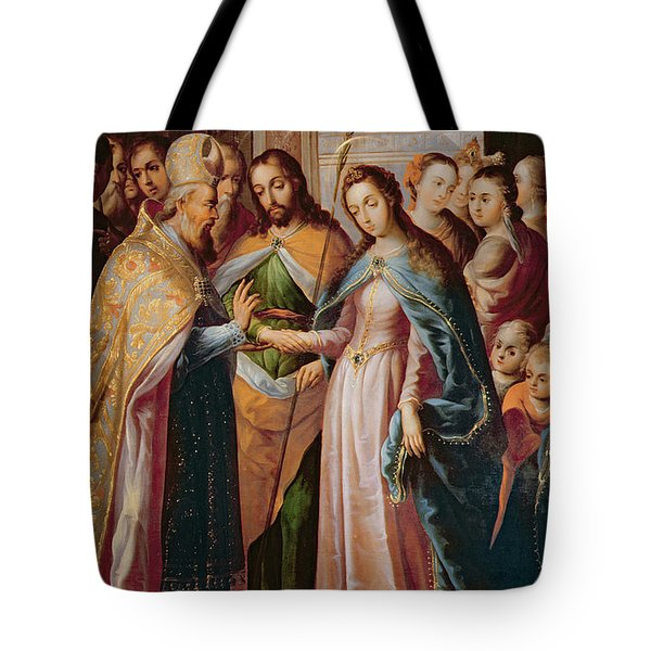 The Marriage Of Mary And Joseph Tote Bag by Mexican School