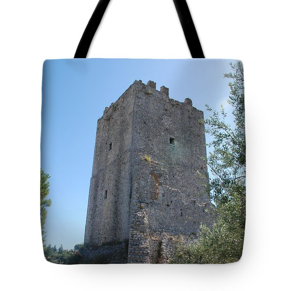 Tote Bag featuring the photograph The Medieval Tower by Dany Lison
