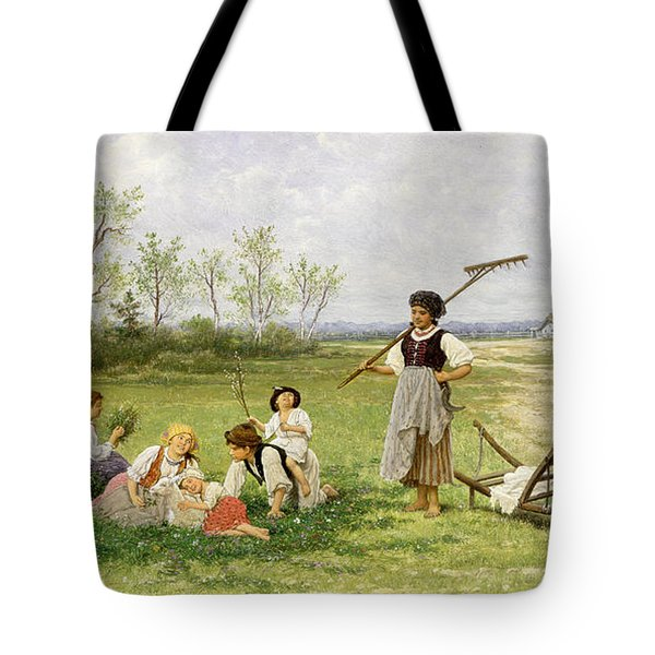 The Midday Rest Tote Bag by Franciszek Streitt