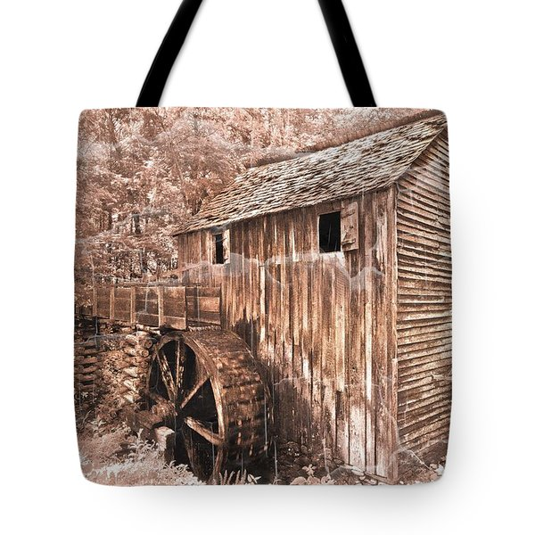 The Mill At Cade's Cove Tote Bag by Debra and Dave Vanderlaan