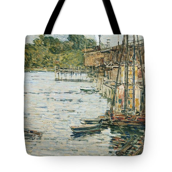 The Mill Pond Tote Bag by Childe Hassam