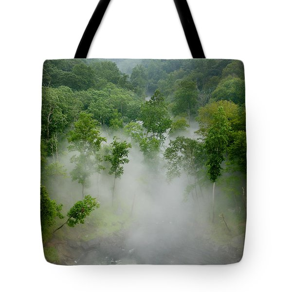 The Mist In The Valley Tote Bag