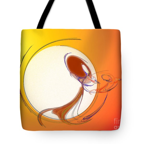 The Monkey On The Moon Tote Bag by Andee Design