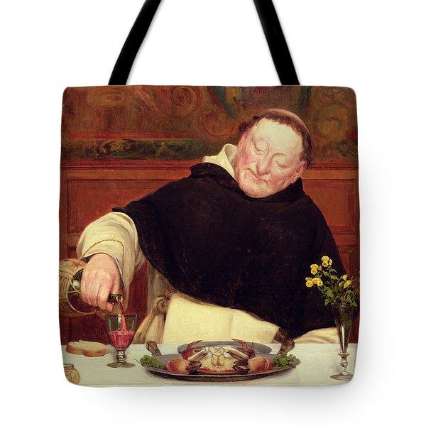 The Monk's Repast Tote Bag by Walter Dendy Sadler