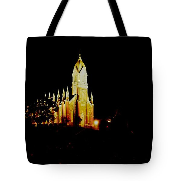 The Morman Temple In Brigham City Tote Bag by Jeff Swan