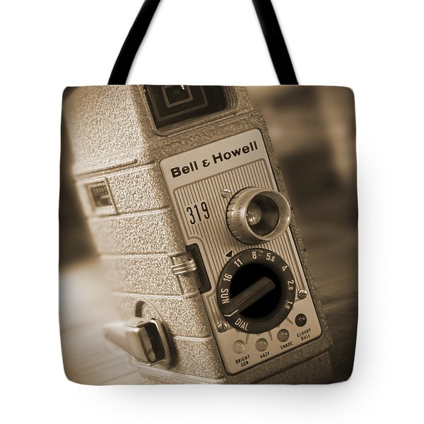 The Movie Camera Tote Bag by Mike McGlothlen