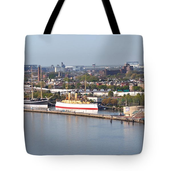 The Mushulu And Monitor With The Sports Complex In The Background Tote Bag by Bill Cannon