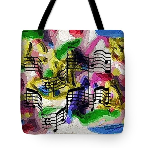 Tote Bag featuring the digital art The Music In Me by Alec Drake