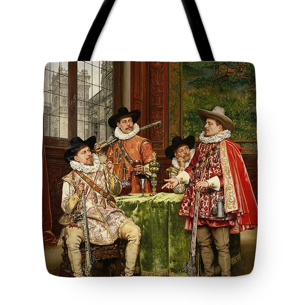 The Musketeer's Tale Tote Bag by Adolphe Alexandre Lesrel