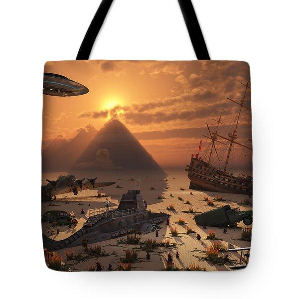 The Mysterious Bermuda Triangle Where Tote Bag by Mark Stevenson