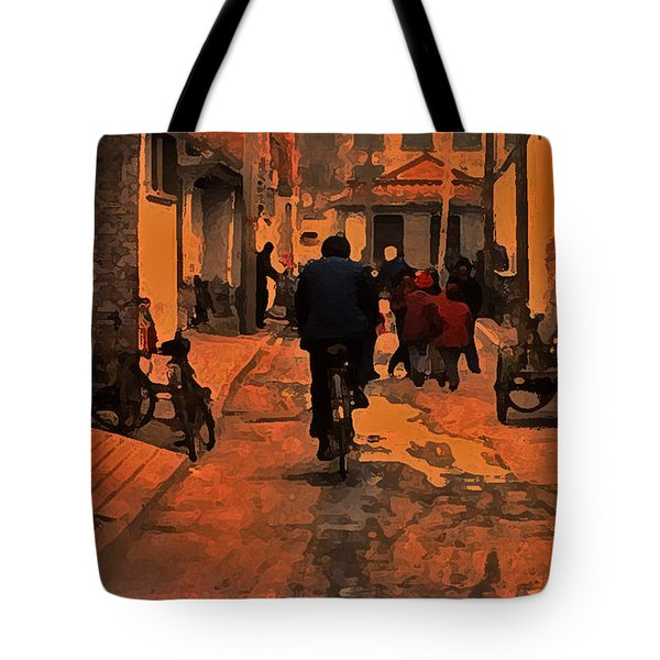 Tote Bag featuring the photograph The Neighborhood by Lydia Holly