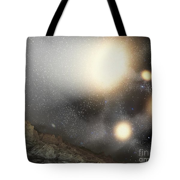 The Night Sky As Seen Tote Bag by Stocktrek Images