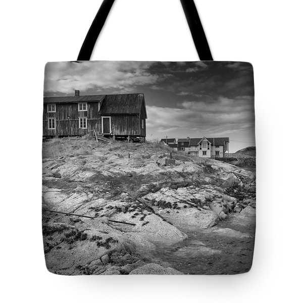 The Old Fisherman's Hut Bw Tote Bag by Heiko Koehrer-Wagner