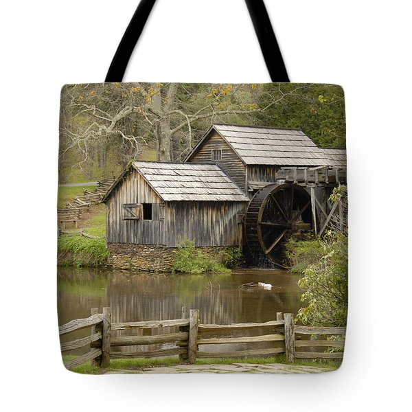 The Old Grist Mill Tote Bag by Cindy Manero