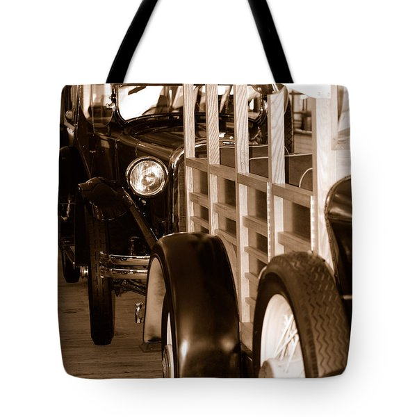 The Old Line Up Tote Bag by Holly Blunkall