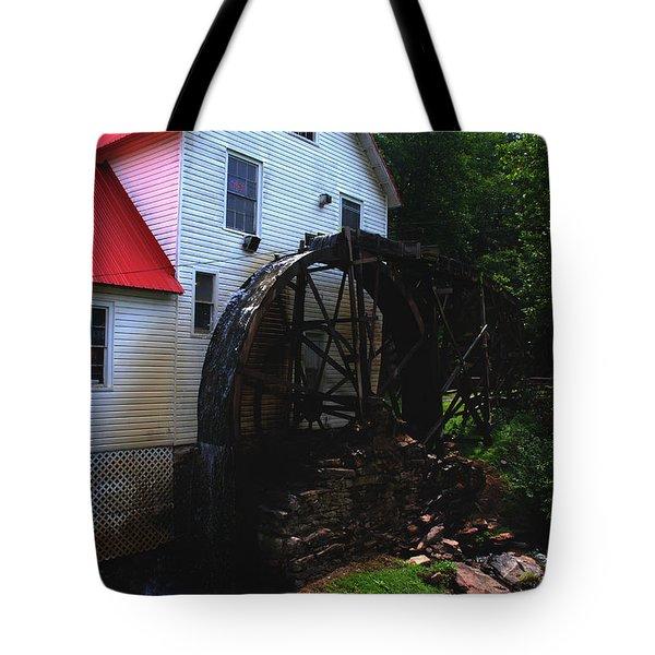 The Old Mill 1886 In Cherokee North Carolina - II  Tote Bag by Susanne Van Hulst