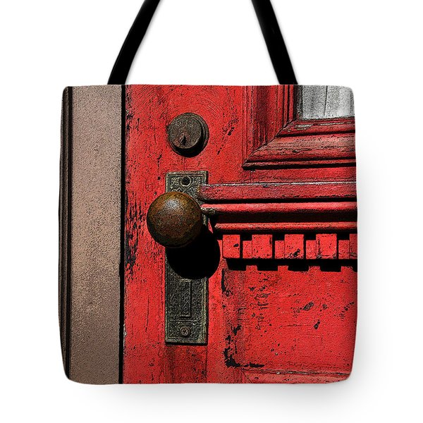 The Old Red Door Tote Bag by David Lee Thompson