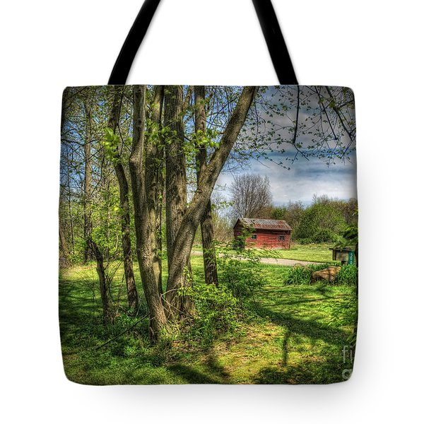 The Old River Shed Tote Bag by Pamela Baker