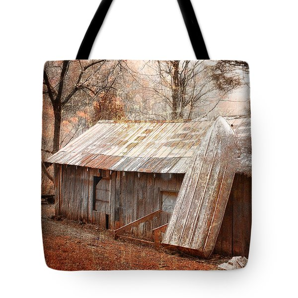 The Old Row Boat Tote Bag by Gray  Artus
