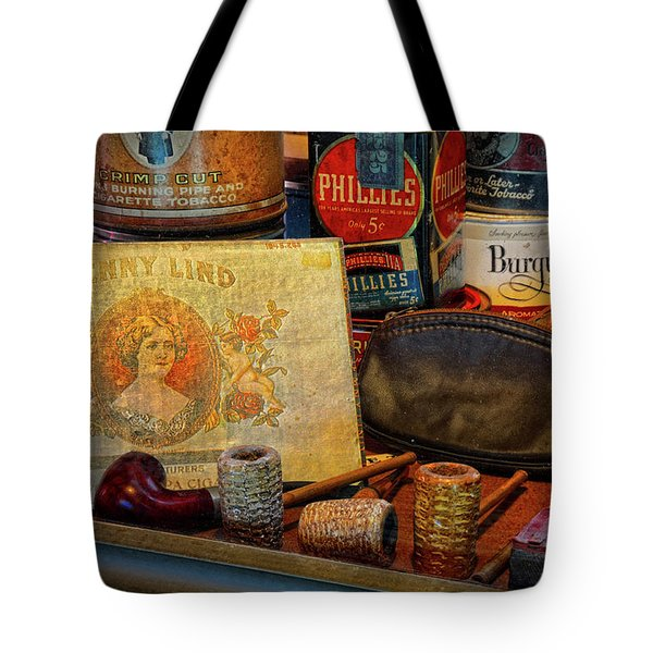 The Old Smoke Shop Tote Bag by Dave Mills