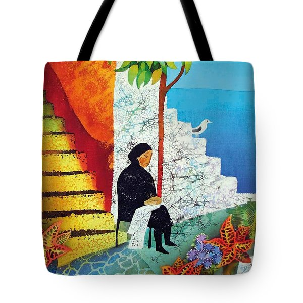 The Old Woman And The Sea Tote Bag by Kate Krivoshey