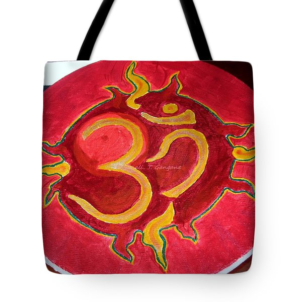 Tote Bag featuring the painting The Omnipotent Aumkar by Sonali Gangane