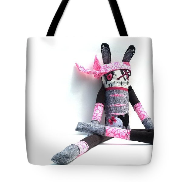 The Original Gangsta Zombie Jenni Rump-thumpin Jamma Tote Bag by Oddball Art Co by Lizzy Love