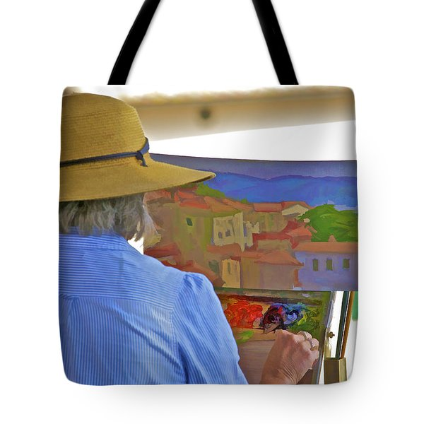 Tote Bag featuring the photograph The Painter by David Letts