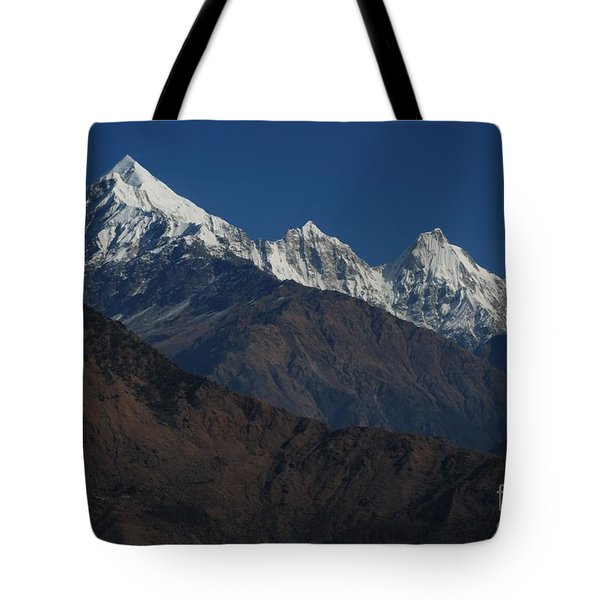 Tote Bag featuring the photograph The Panchchuli Range by Fotosas Photography