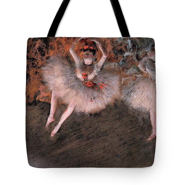 The Pas Battu Tote Bag by Edgar Degas