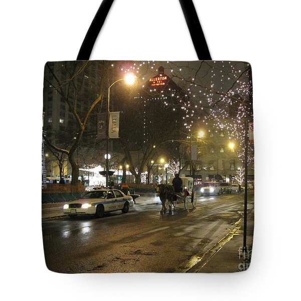 Tote Bag featuring the photograph The Past Meets The Present In Chicago Il by Ausra Huntington nee Paulauskaite