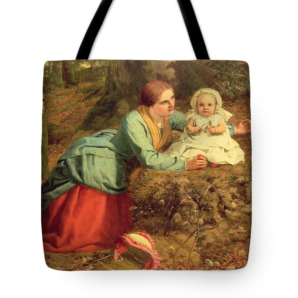 The Path Where The Brown Leaves Are Spread Tote Bag by Frederick Richard Pickersgill