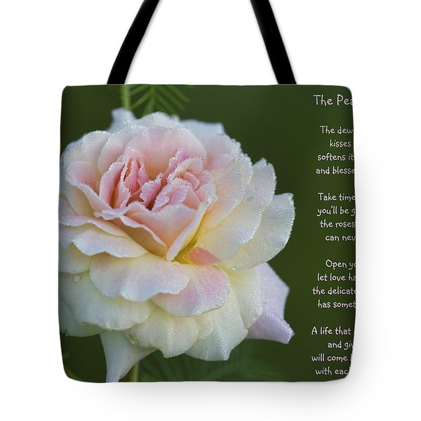 The Peace Rose Tote Bag