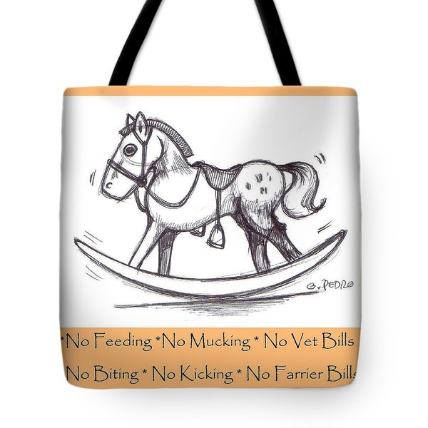 Tote Bag featuring the drawing the Perfect Horse by George Pedro