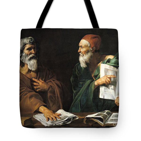 The Philosophers Tote Bag by Master of the Judgment of Solomon