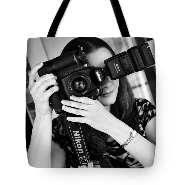 The Photographer Tote Bag by Ricky Barnard
