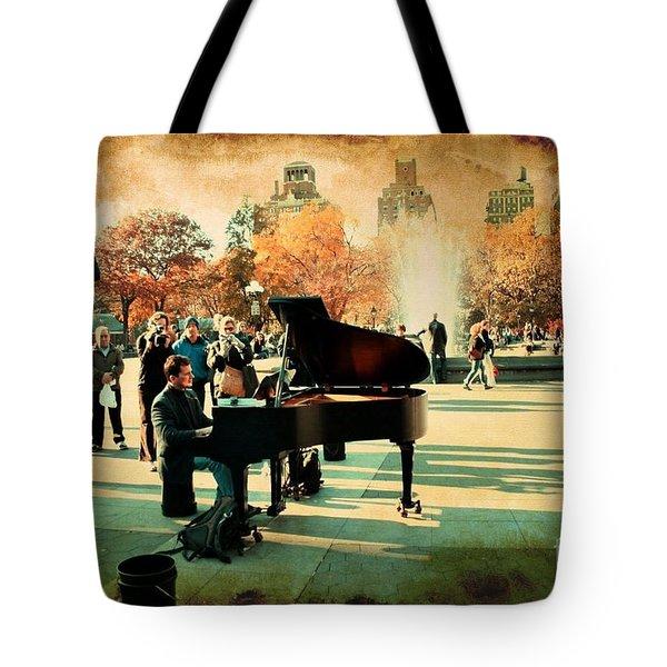 The Piano Man Tote Bag by Ken Marsh
