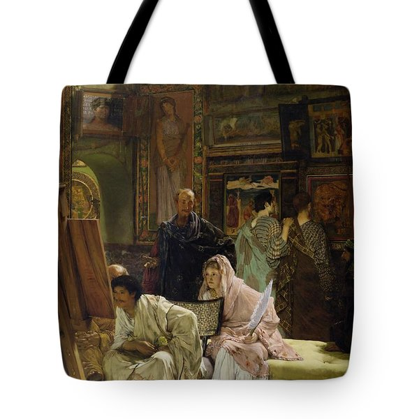 The Picture Gallery Tote Bag by Sir Lawrence Alma-Tadema