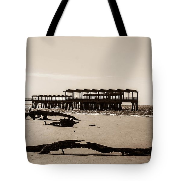 Tote Bag featuring the photograph The Pier by Shannon Harrington